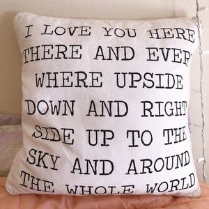 Other - Letter Print Pillow (18 x 18inch)